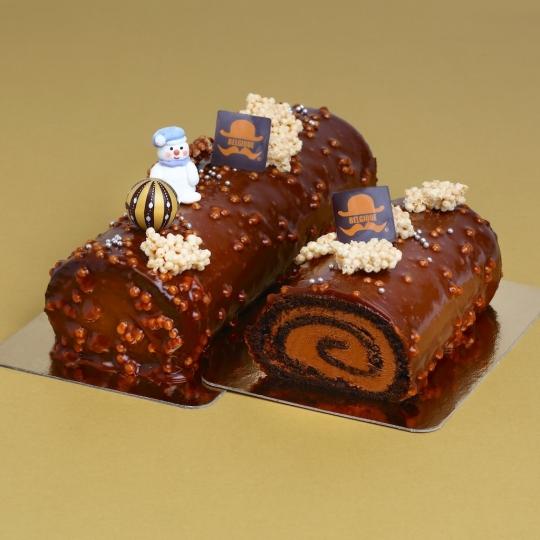 Traditional Chocolate Cream Log