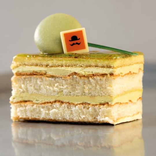 Pistacchio & vanilla slice