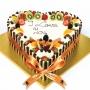 Heart Shape Fresh Cream Gateau CC014