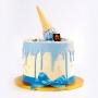 Vanilla Dripping Cake - Blue