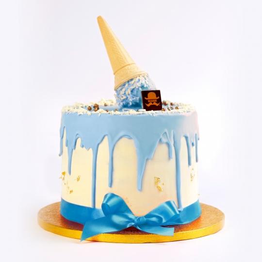Dripping Cake - Vanilla - Blue