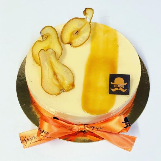 Pear & Salted Caramel Cheesecake